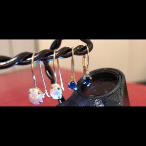 Jewelry - 10kt and gemstone drop earrings 💓